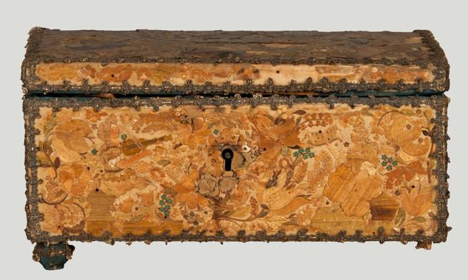 Strohmarketeriekästchen aus dem St. Annen-Museum in Lübeck