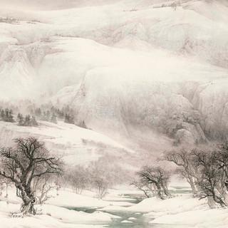 王裕國 《關東瑞雪圖》 91×172cm