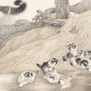米春茂 《溫馨情懷》 81.5×147.5cm