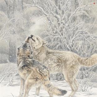 郝建武 《浴雪》 178×96cm