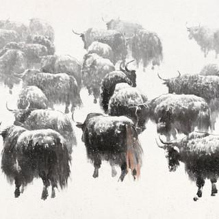 劉大為 《雪域生靈》 144×277cm