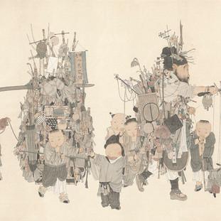 張鎮華 《貨郎圖》 66×217cm