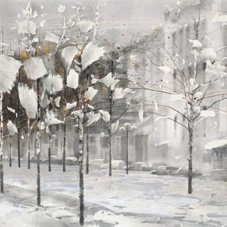 羅偉顯 《瑞雪》 98×177cm