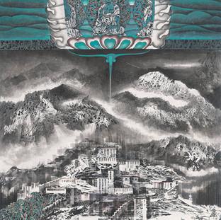 丹增·謝珠 《夢境香巴拉》 179×95cm