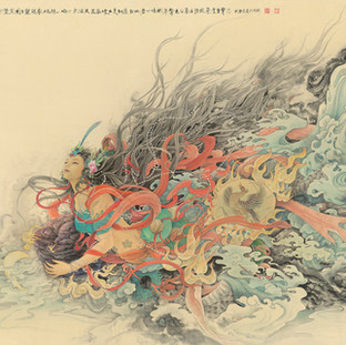 武衛萍 《女媧補天》 138×202cm