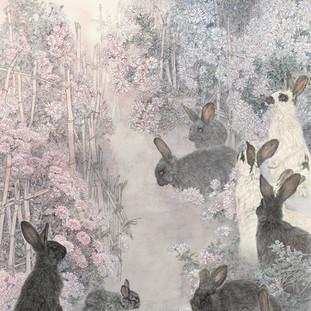 李喆 《曾經東籬下》 182×90cm