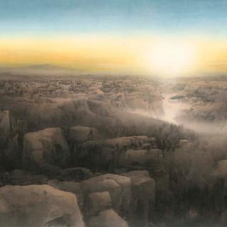 何百里《一路好風光系列-古城曦望》 114×192cm