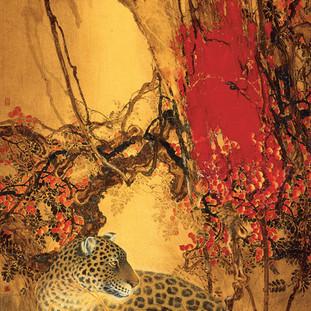 林濤 《山到秋深紅更多》 175×90cm