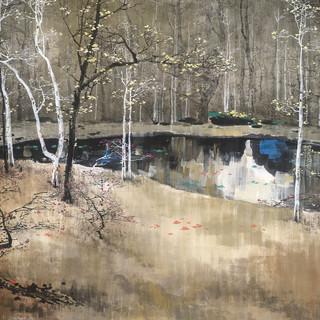 劉懋善 《夏宮花園之深秋》 96×178cm
