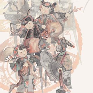 金格格《小花襖大秧歌》 178×94cm