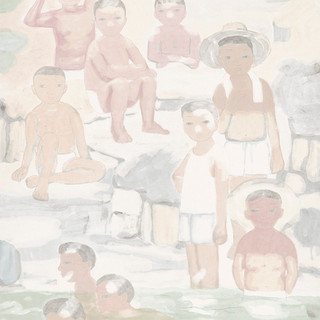 田黎明 《童年》 194×81cm