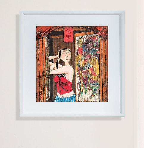 Art Print: Hu Yongkai 印畫  門神 (一) 胡永凱
