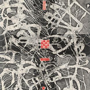 張爾《都在祖傳血脈中》 177×96cm