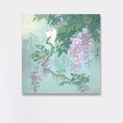 Art Print: Zhou Zhongyao 印畫  花間倩影  周中耀