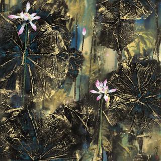 薄雲 《花好葉茂》 179×97.5cm