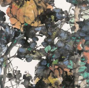 徐錦江 《豐收樂》 142×77cm
