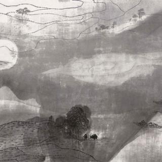 朱訓德 《瀟湘掬月》 97×178cm