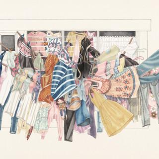 梁麗雯 《公開的衣櫃》 93×173cm