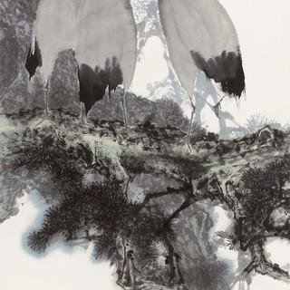 秦天柱 《松鶴延年》 179×96.5cm