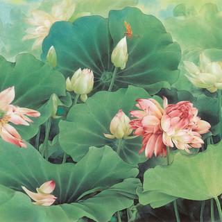 鄒傳安 《夏日荷塘》 93×175cm