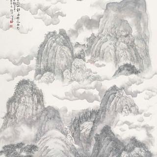 周凱 《杜牧詩意》 181×97cm