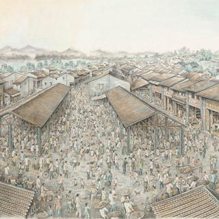 羅文峰 《古城風韻》 100×207cm