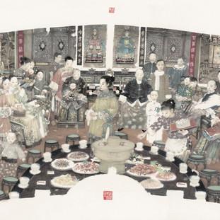 曹輝《年夜飯》 122×248cm