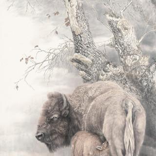 劉剛 《母子情深》 178×96cm