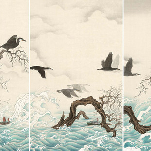 卓家慧 《時間的餘韻》 95×180cm