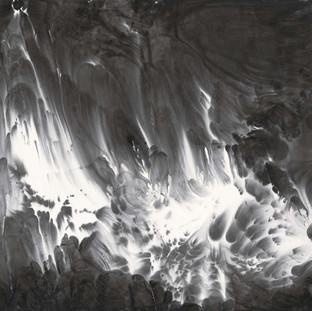 趙無眠 《滄溟湧洪峰》 96.5×178cm