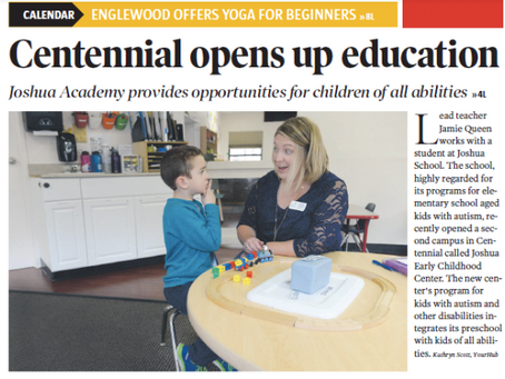 Denver Post YourHub: Joshua School's Centennial center welcomes kids with autism and kids without