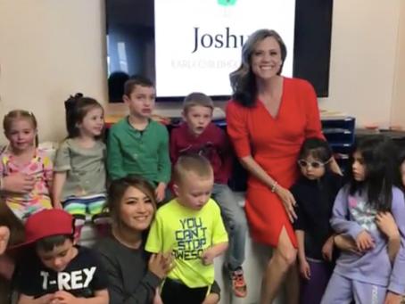 Fox31 News: Natalie's visit to the Joshua School
