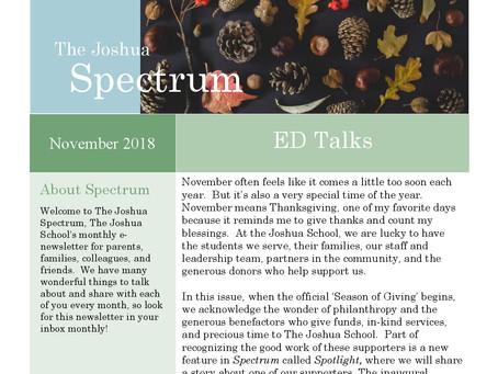 The Joshua Spectrum November 2018