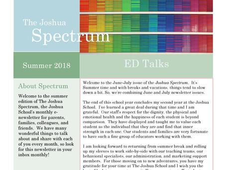 The Joshua Spectrum Summer 2018