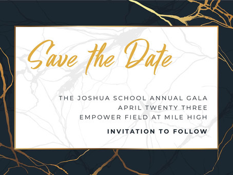 Save-the-Date:  2020 Gala Scheduled for April