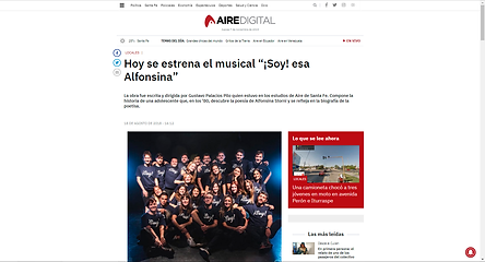 """Nota de la radio """"Aire de Santa Fe"""", Santa Fe, Capital, Argentina (2018)"""