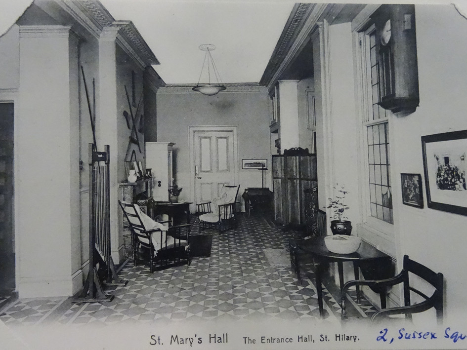 St Hilary House, 2 Sussex Square, Entrance Hall c1907