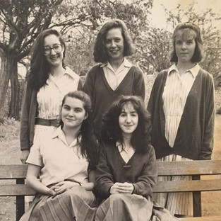 Back row: Sarah Cox  Rosa Cook, Daisy/ Pegeen Armstrong.  Front row Julie Hay Natalie Bloom