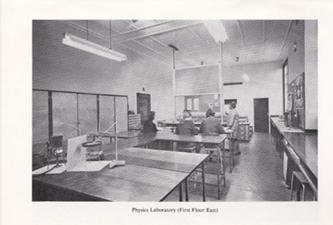 1969 improvements, new Physics Lab (first floor east)