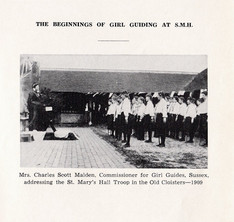 1909 beginning of Girl Guides