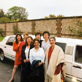 L-R - Micki Aston (Sheftell), Alison Smith, Yvonne Shepherd, Stella Hughes, Mariam Vergee, Lindsey Milton and Virginia Craig (Jackson) - date unknown.