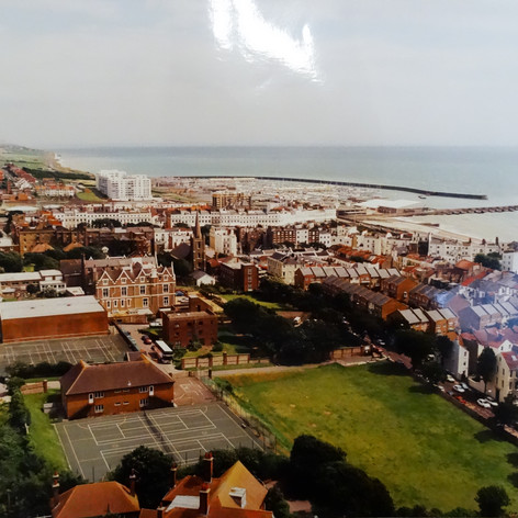 Aerial View, post 1976 (The Lax pitch the other side of Eastern Road has houses on it).