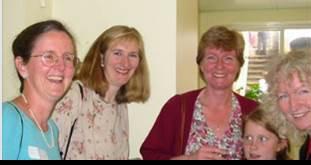 2002 -  L-R Susan Roller (Harris)  Susan Duncan (Hennings)  Juliet Jee (Morris)  Johanna Hill (Dwyer)