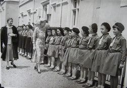 Includes Rosemary Highfield (Cox) 7th from Right with hands by her sides. Rosemary tells us that the Princess did speak with her.