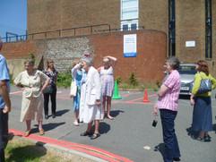L-R Ruth F, Corinne A, Jane W, Margaret E, Jo Stubbs (Podd) . Centre/front Ruth Wiffen