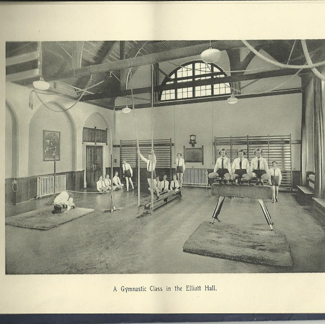 A Gymnastic Class in the Elliott Hall