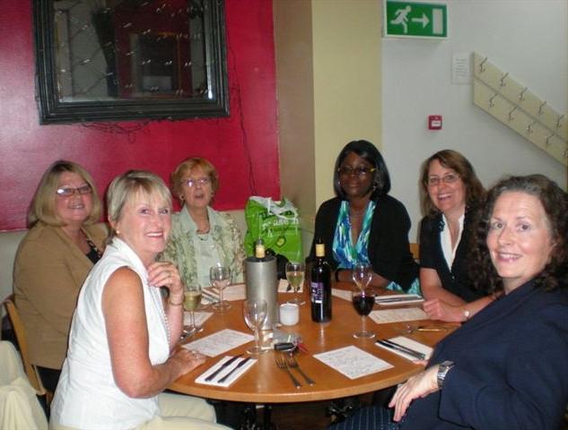 2009 - Clockwise: (? Julie Maguire) Kathy Rees, Heather Hubert, Addy Balogun, Debbie Swales, Joan Bridget Turner