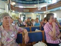 Front L Sue Carnochan, Front R Margaret Ellis. Further back L-R Penny H, Pamela James, Corinne H.