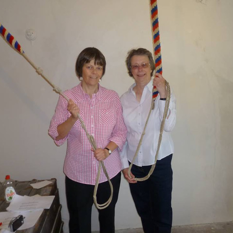 Kathy Howard and Margaret Ellis ringing the bells at St Mark's