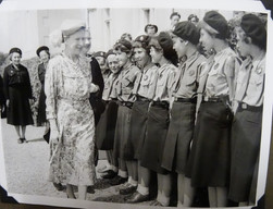 Miss Farmer (Geography), Guide Captain, extreme left, wearing a beret. (can be seen with her back to us in earlier images)